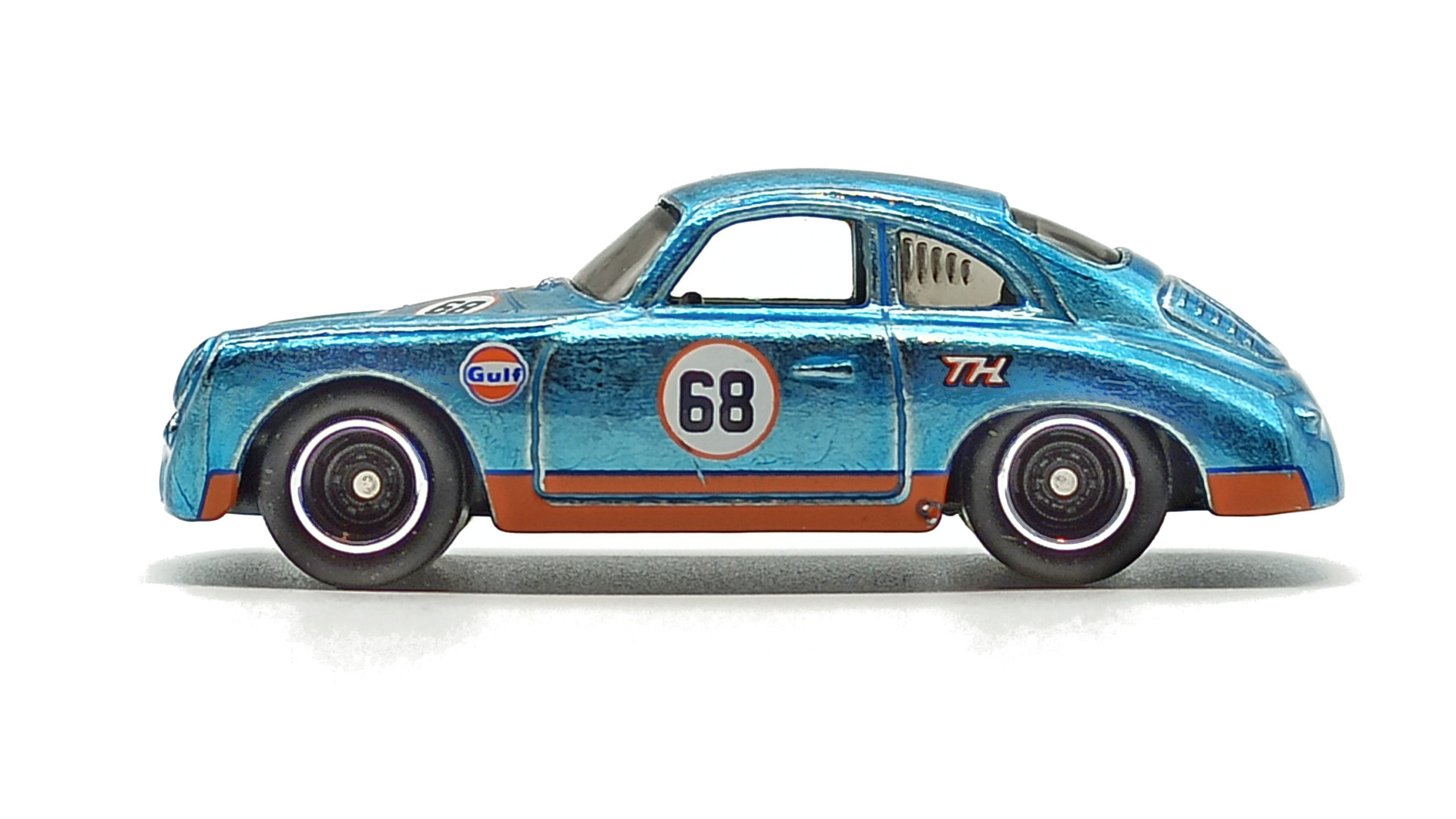 Hot Wheels Porsche 356 Outlaw (GTD08) 2021 (171/250) HW Speed Graphics (7/10) spectraflame light blue (Gulf) Super Treasure Hunt (STH) side