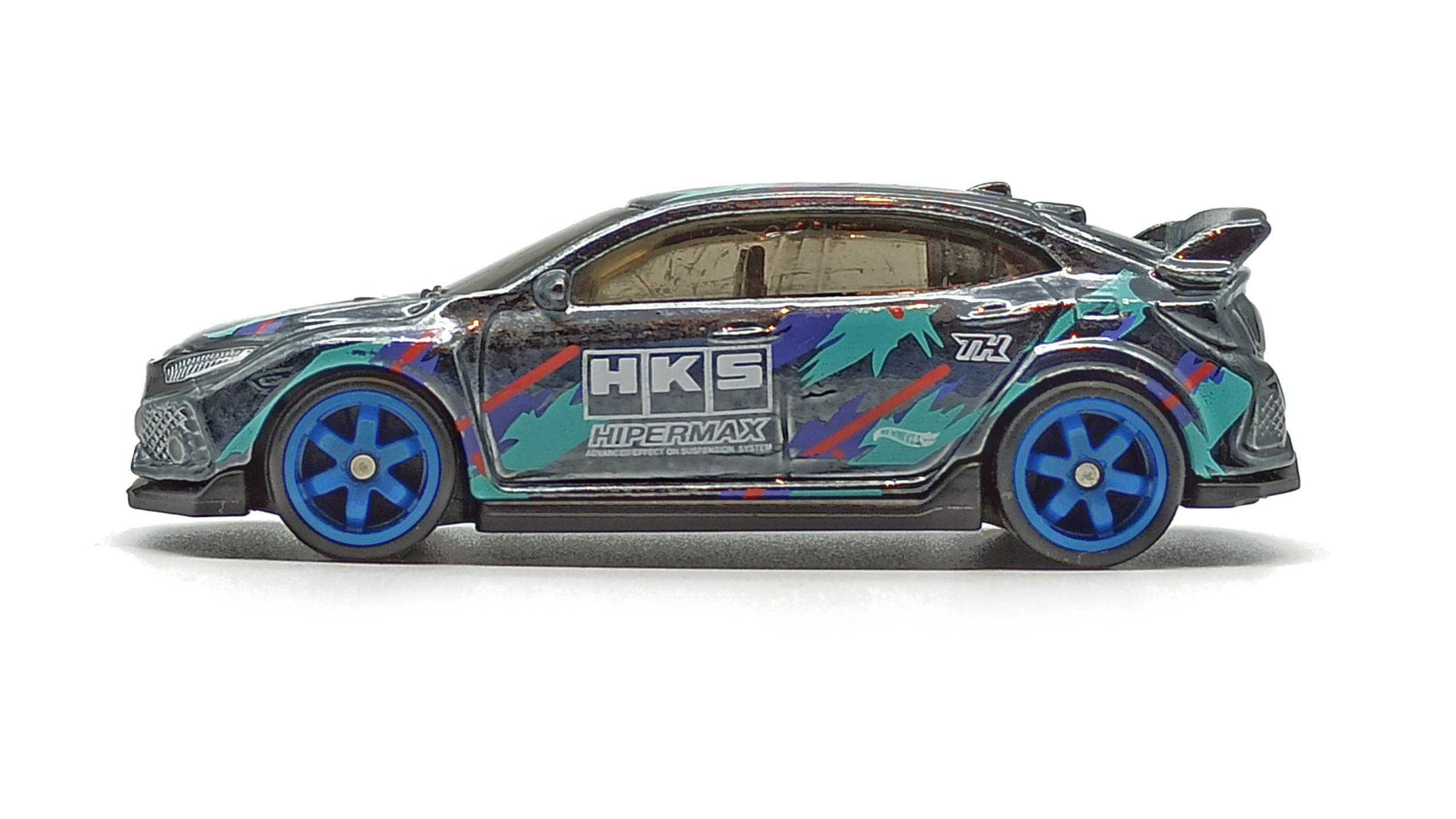 Hot Wheels 2018 Honda Civic Type R 2021 (186/250) HW J-Imports (6/10) spectraflame black Super Treasure Hunt (STH) side