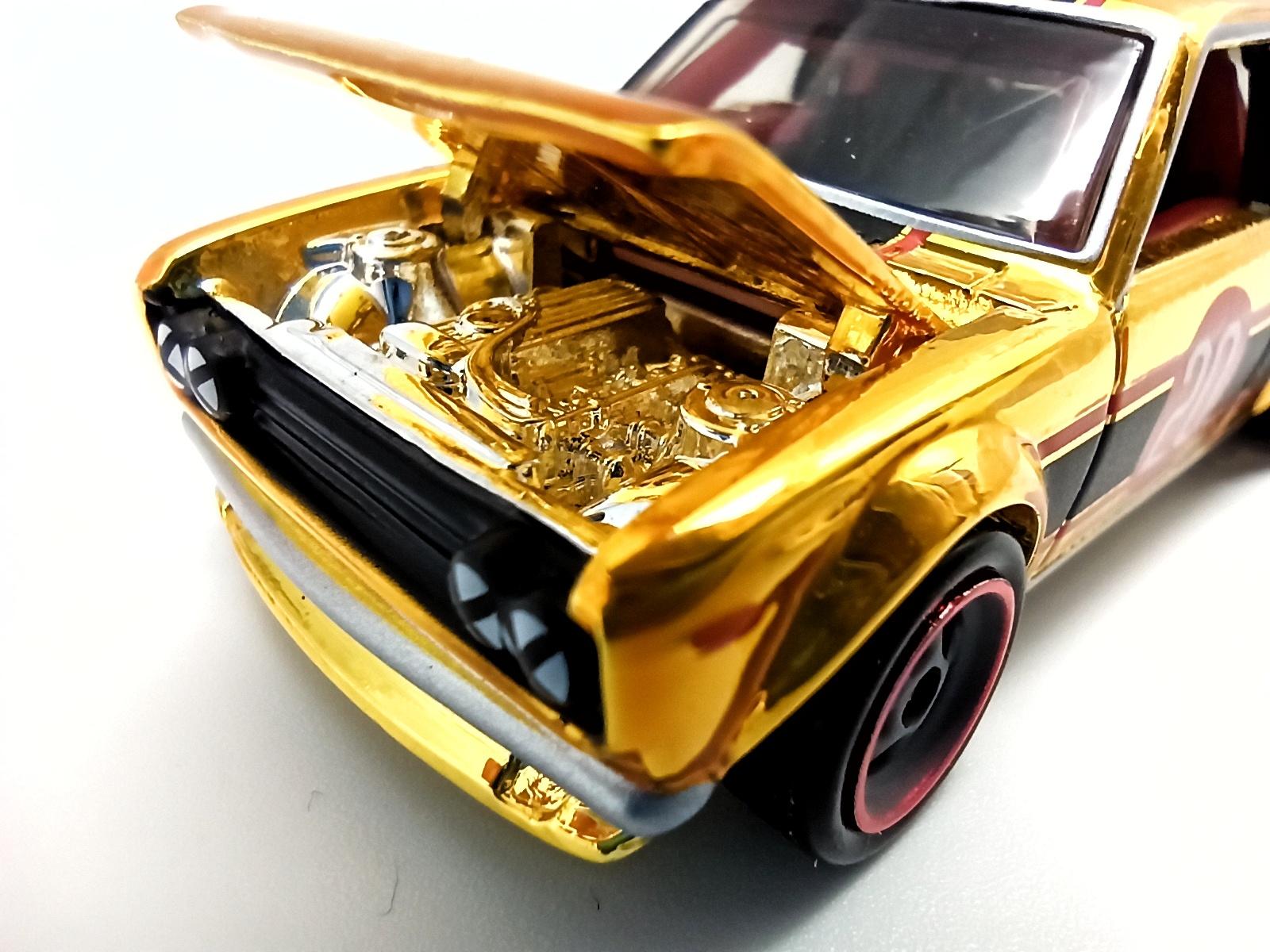 Hot Wheels Datsun Bluebird 510 (DTH32) 2020 RLC Exclusive (1 of 15.000) spectraflame bright yellow gold open hood