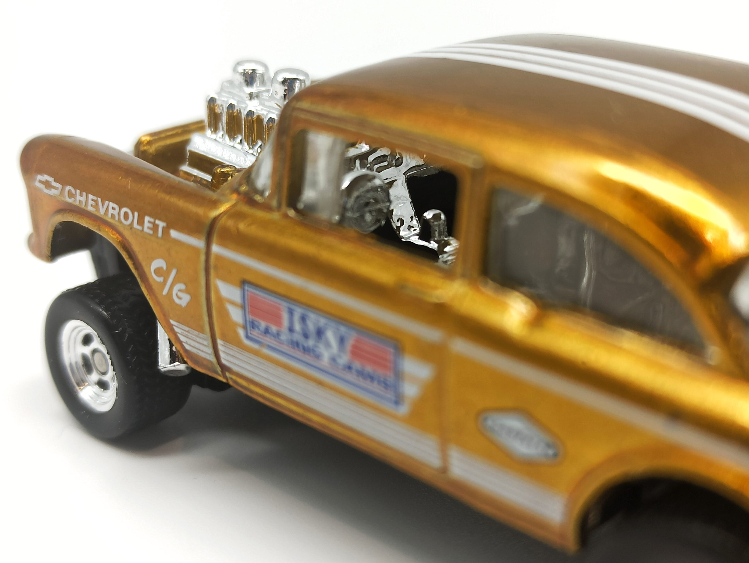 Hot Wheels '55 Chevy Bel Air Gasser 2020 Legends Tour Exclusive spectraflame yellow (gold) interior