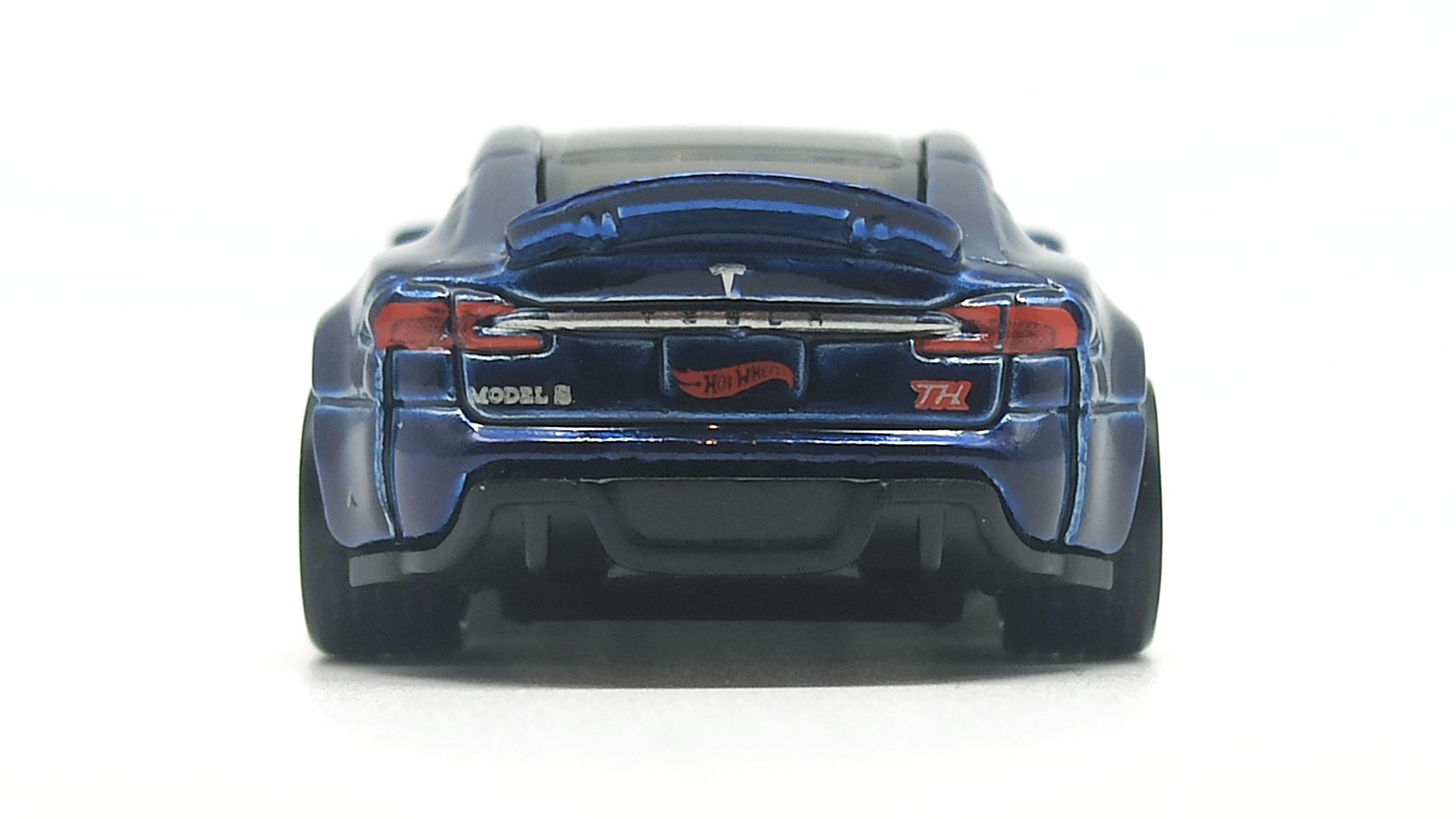 Hot Wheels Tesla Model S (FYG08) 2019 (226/250) HW Green Speed (4/5) indigo blue Super Treasure Hunt (STH) back