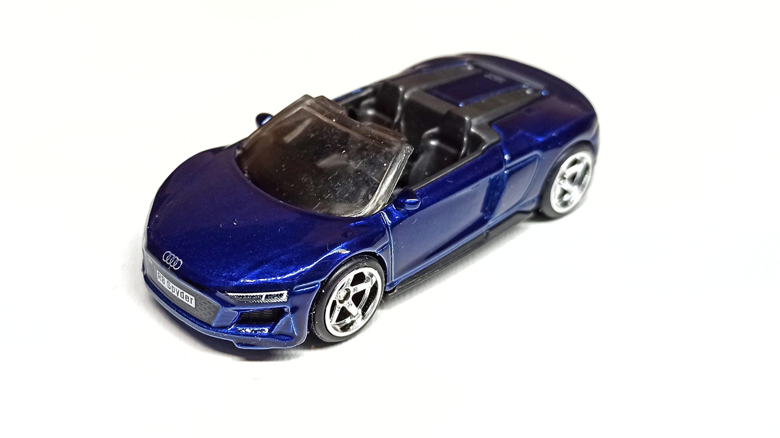 Hot Wheels 2019 Audi R8 Spyder 2021 (211/250) HW Exotics (4/10) indigo blue Super Treasure Hunt (STH) top angle