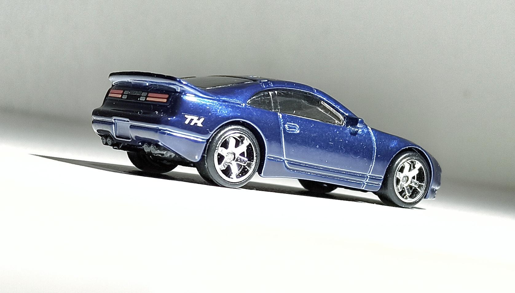 Hot Wheels Nissan 300ZX Twin Turbo (GTD10) 2021 (23/250) HW Turbo (1/5) spectraflame blue Super Treasure Hunt (STH) side angle