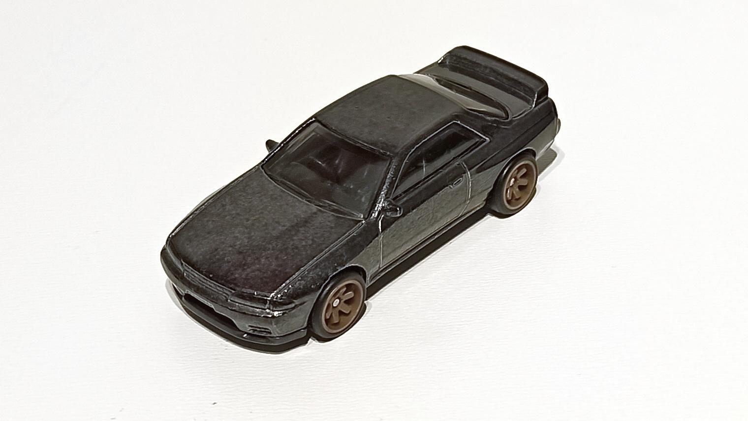 Hot Wheels Nissan Skyline GT-R (BNR32) (GHG23) 2020 (2/250) HW Turbo (5/5) spectraflame gunmetal grey Super Treasure Hunt (STH) top angle