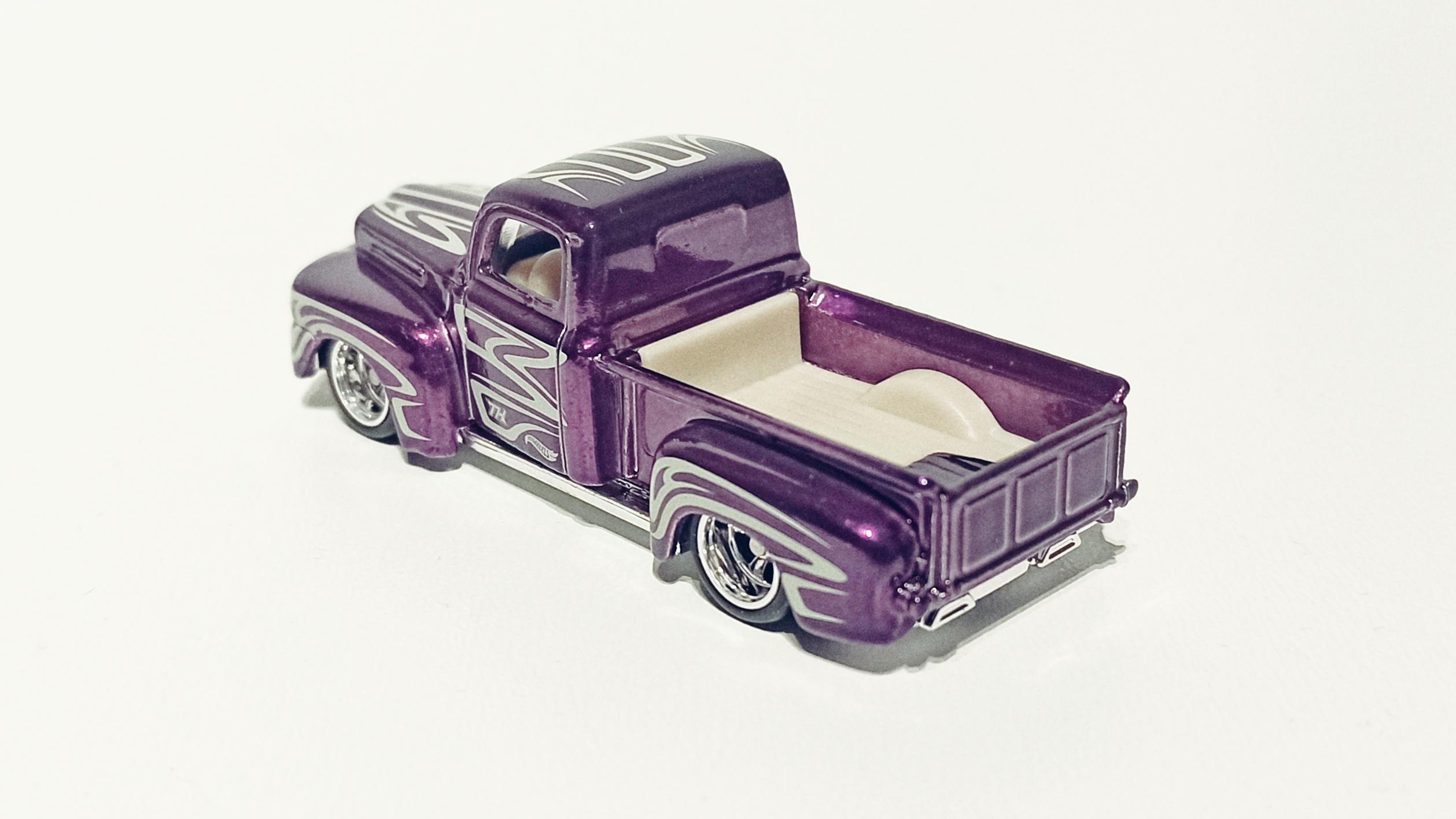 Hot Wheels '49 Ford F1 (GTD03) 2021 (225/250) HW Hot Trucks (6/10) spectraflame purple Super Treasure Hunt (STH) top angle