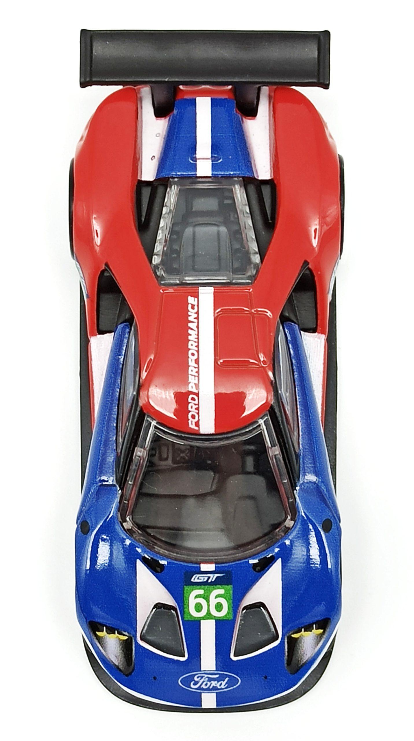 Hot Wheels 2016 Ford GT Race (FLC26) 2018 Car Culture: Circuit Legends (4/5) red & blue top