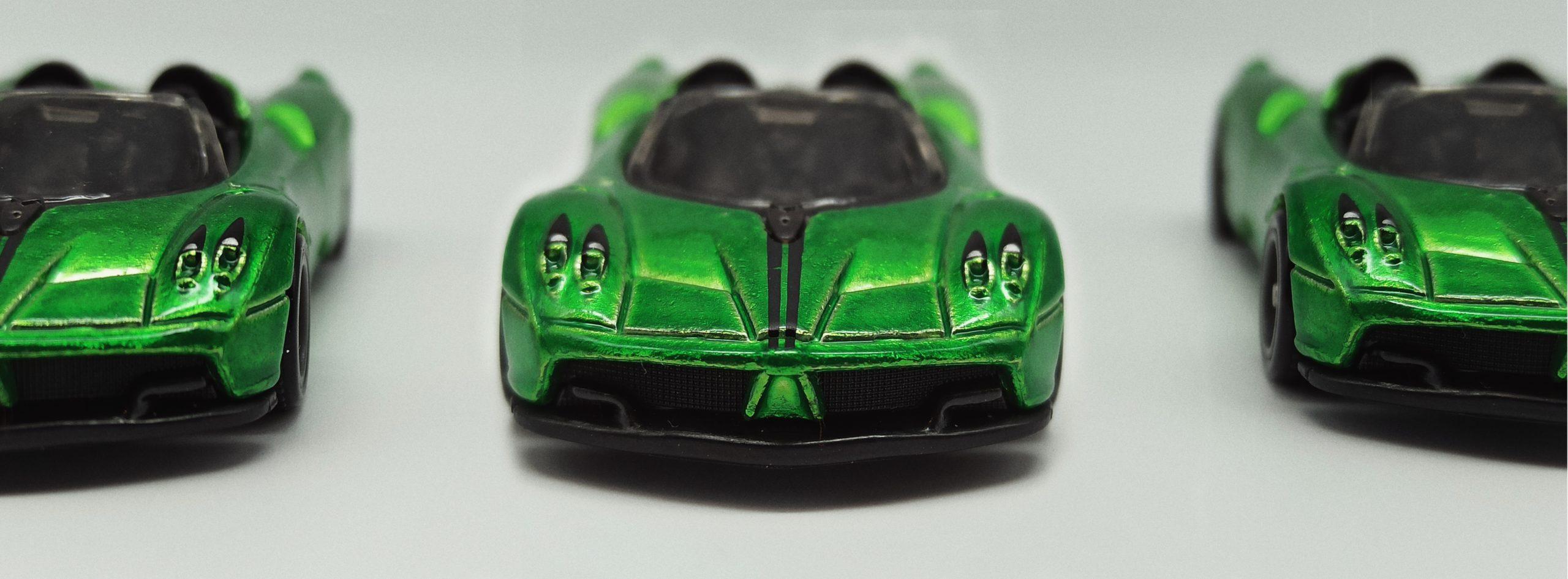 Hot Wheels '17 Pagani Huayra Roadster (GHG21) 2020 (241/250) HW Roadsters (5/5) spectraflame green Super Treasure Hunt (STH) triplets
