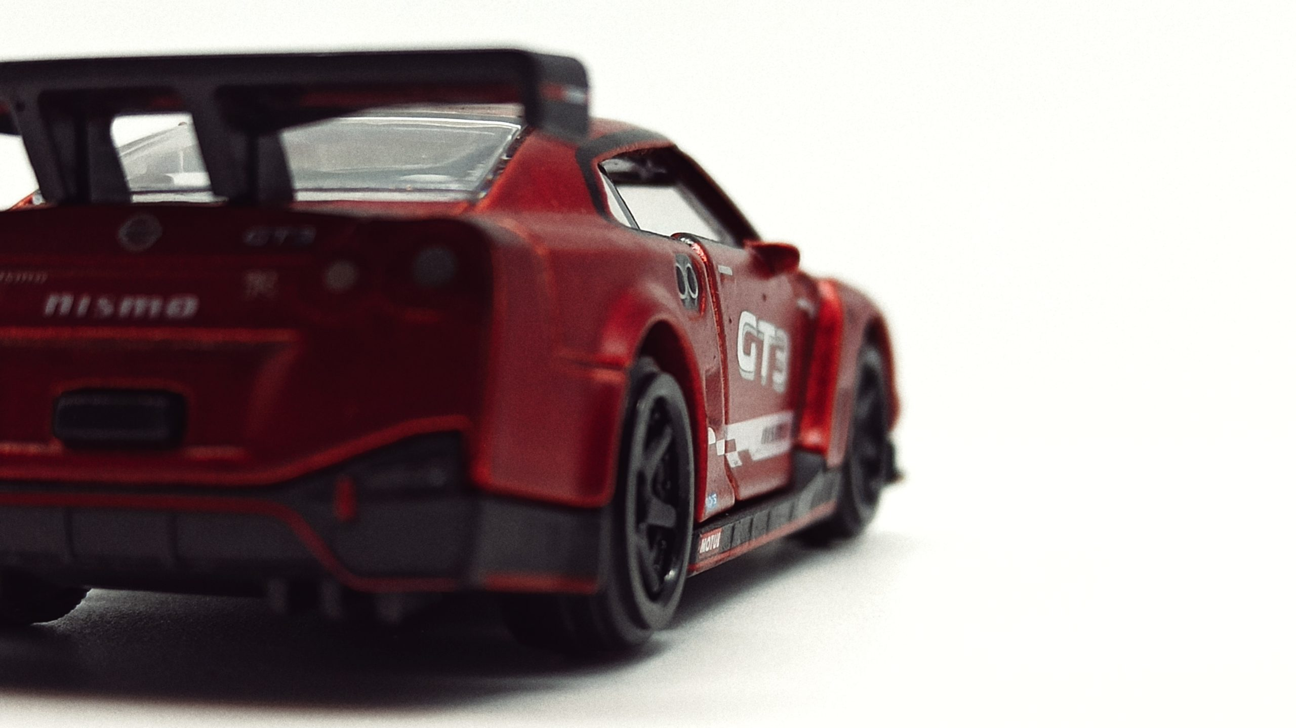 Majorette Nissan GT-R Nismo GT3 (214H) 2021 Limited Edition Series 7 metallic red back angle