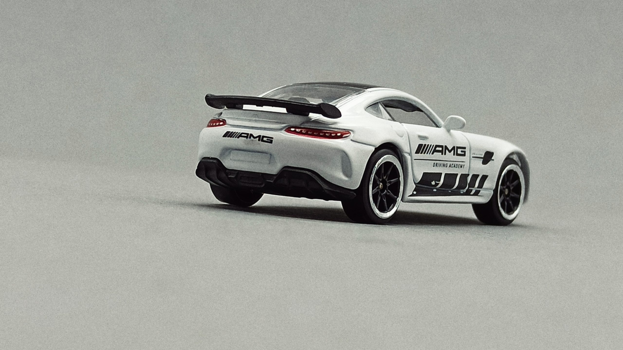 Majorette Mercedes-AMG GT R (9613) 2020 Racing Cars white back angle