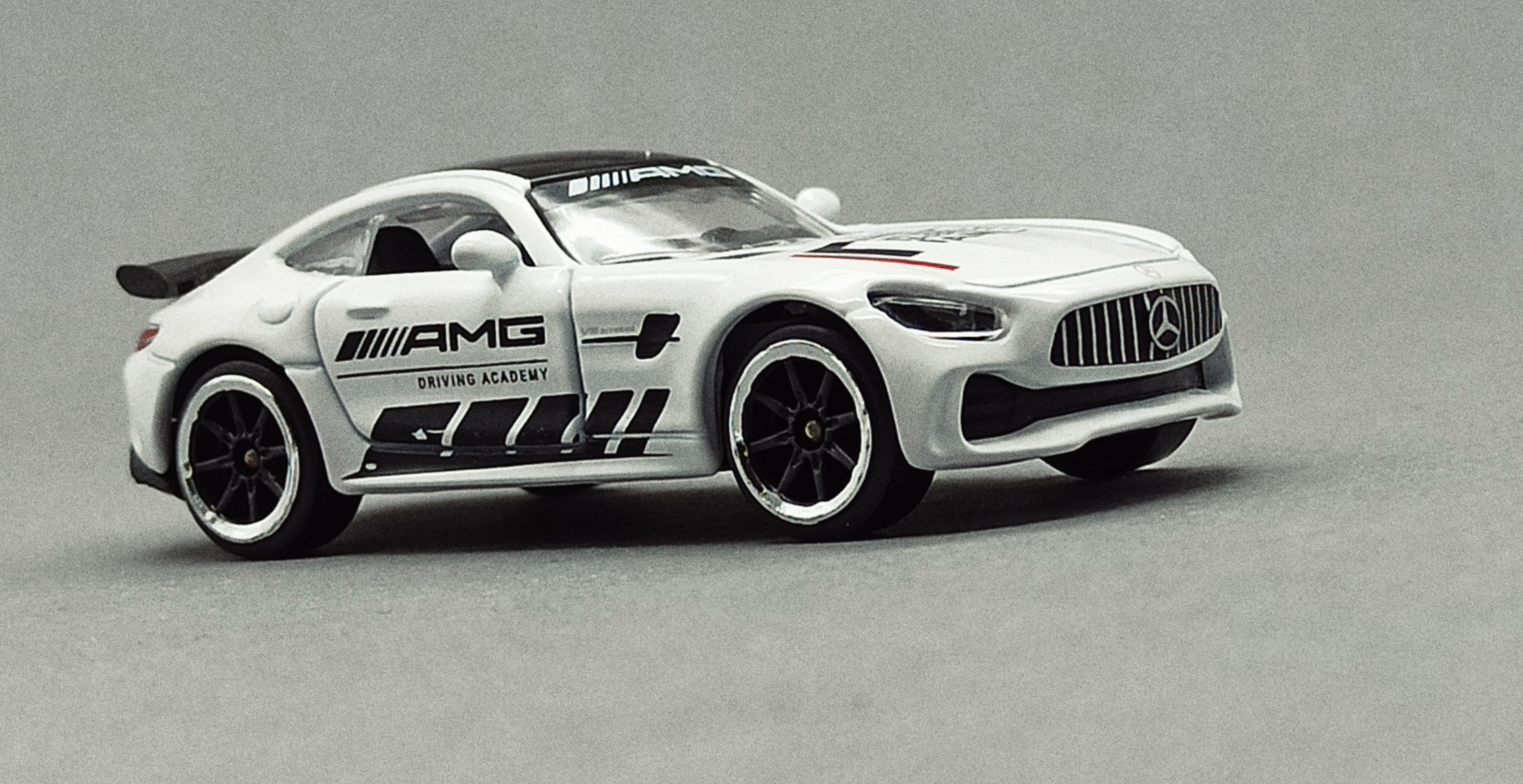 Majorette Mercedes-AMG GT R (9613) 2020 Racing Cars white front angle