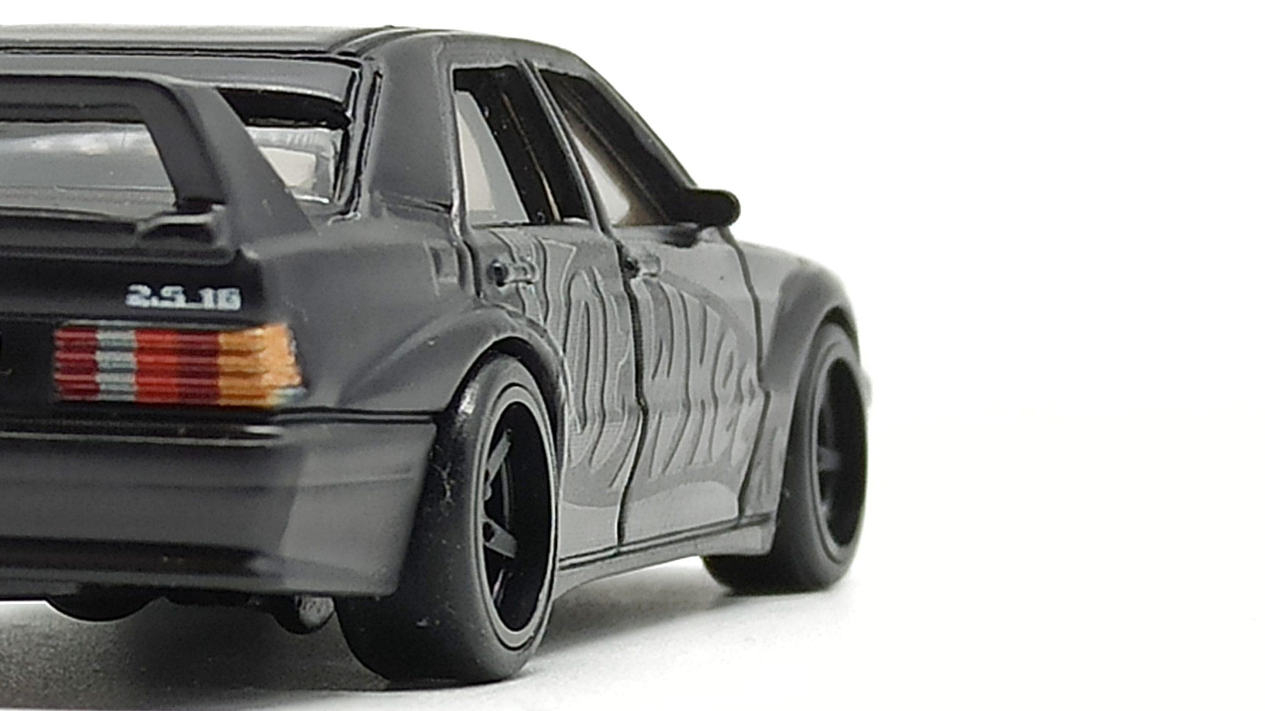 Hot Wheels Mercedes-Benz 190E 2.5-16 EVO II (DWH66) 2021 Display Case Exclusive black back angle