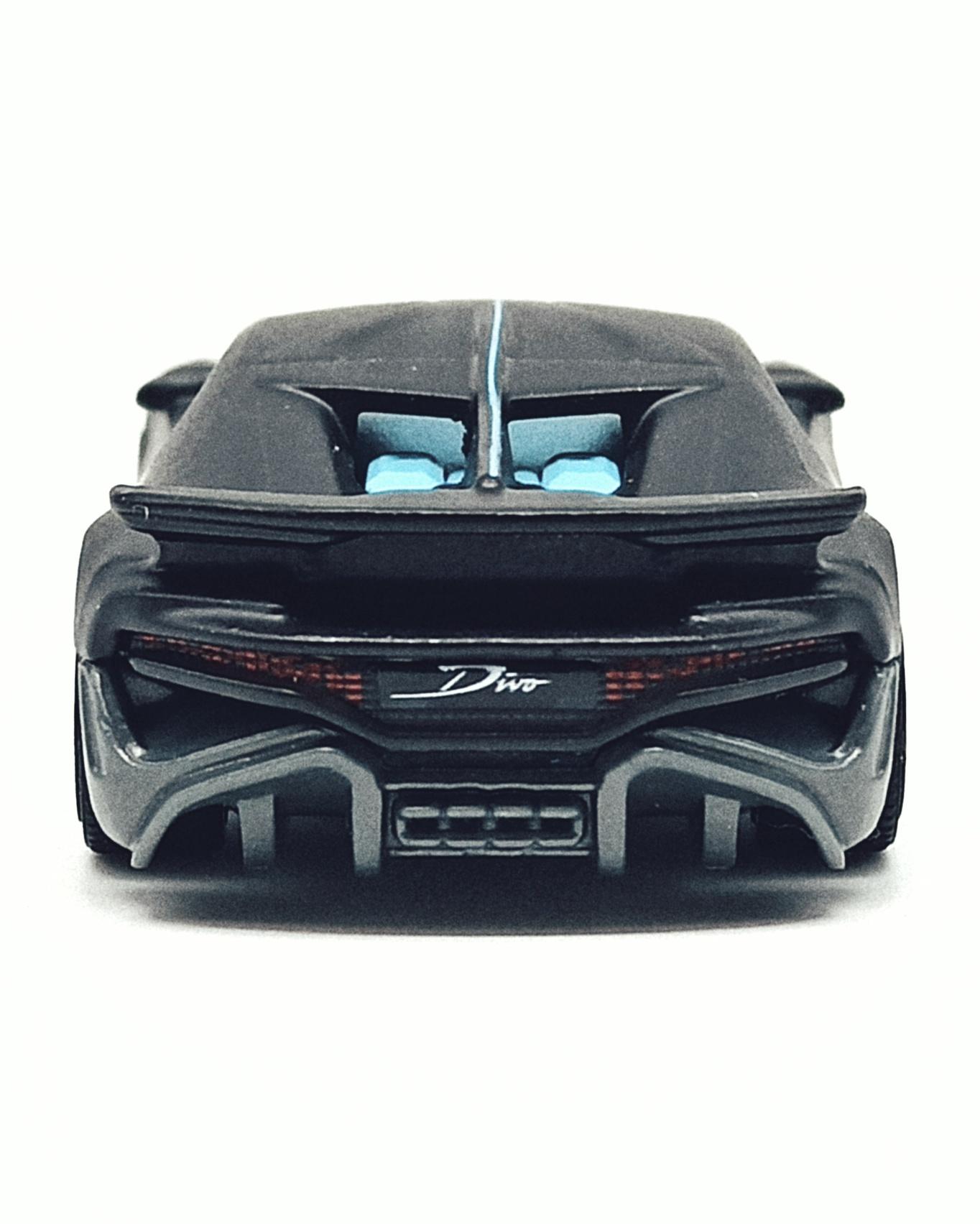 Matchbox 2018 Bugatti Divo (MB39) 2021 MBX Showroom matte black back