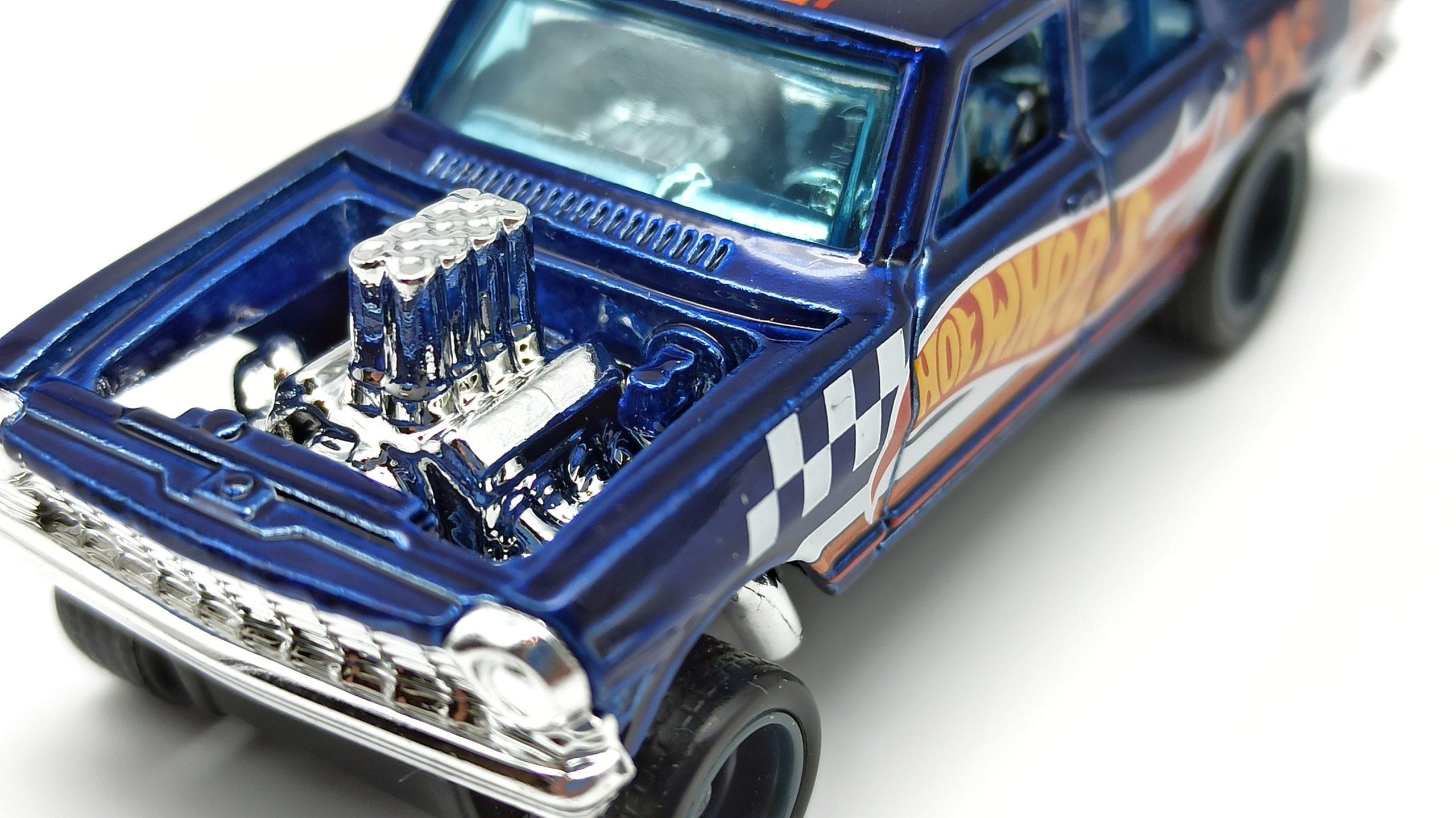 Hot Wheels '64 Chevy Nova Wagon Gasser (GTD06) 2021 (232/250) HW Race Team (7/10) spectraflame blue Super Treasure Hunt (STH) engine