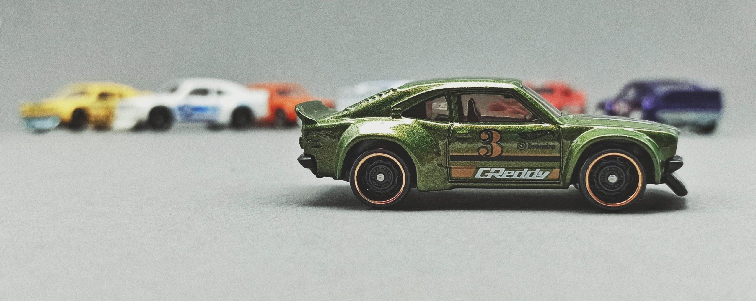 Hot Wheels Mazda RX-3 Collection 2020 (243/250) Nightburnerz (8/10), metalflake dark green (GHD17)