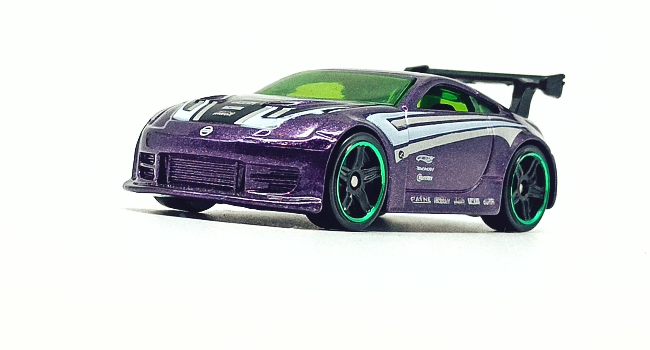 Hot Wheels Nissan 350Z (R7487) 2010 (234/240) Mystery Cars (18/24) purple side angle