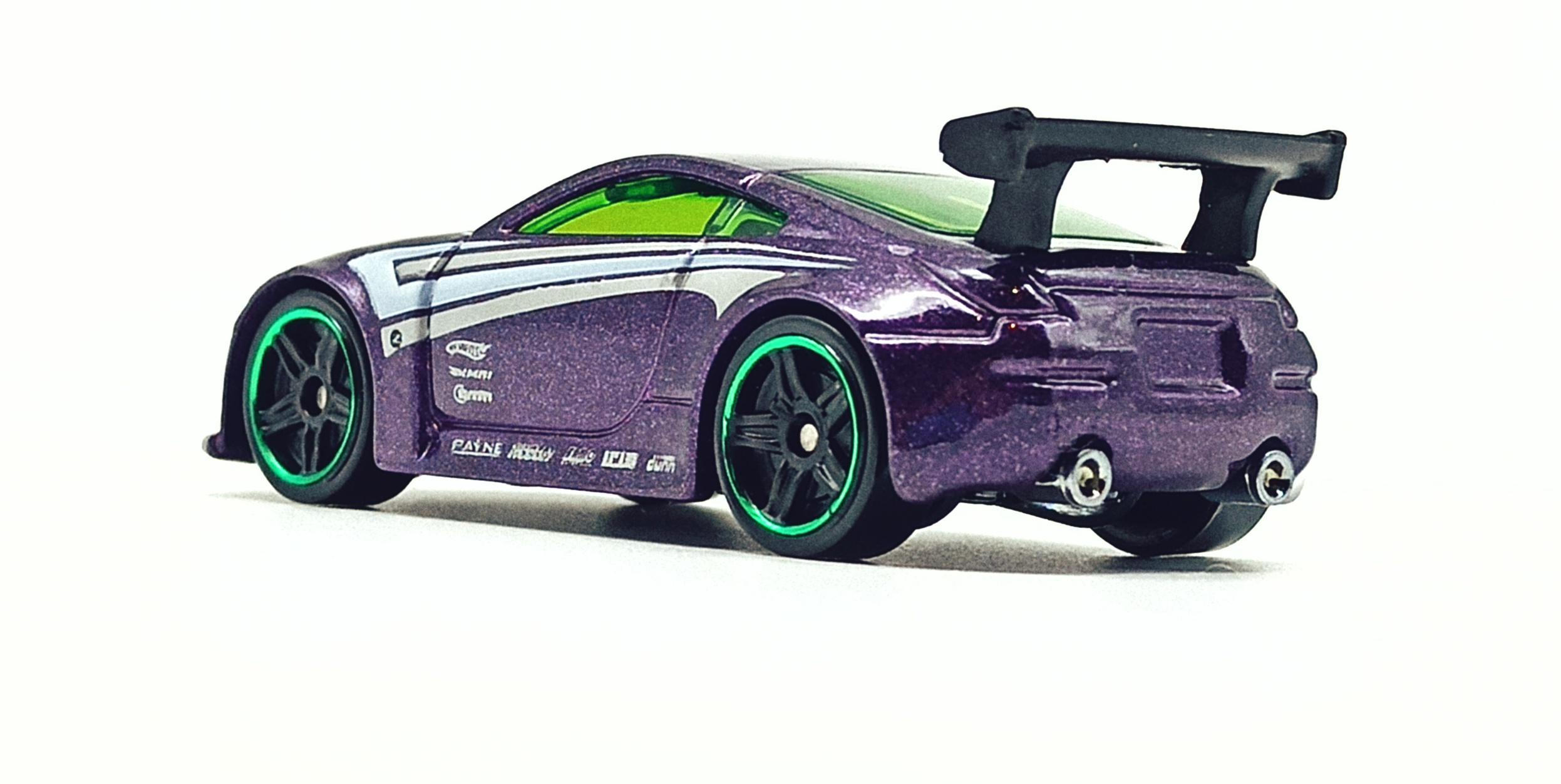Hot Wheels Nissan 350Z (R7487) 2010 (234/240) Mystery Cars (18/24) purple back angle