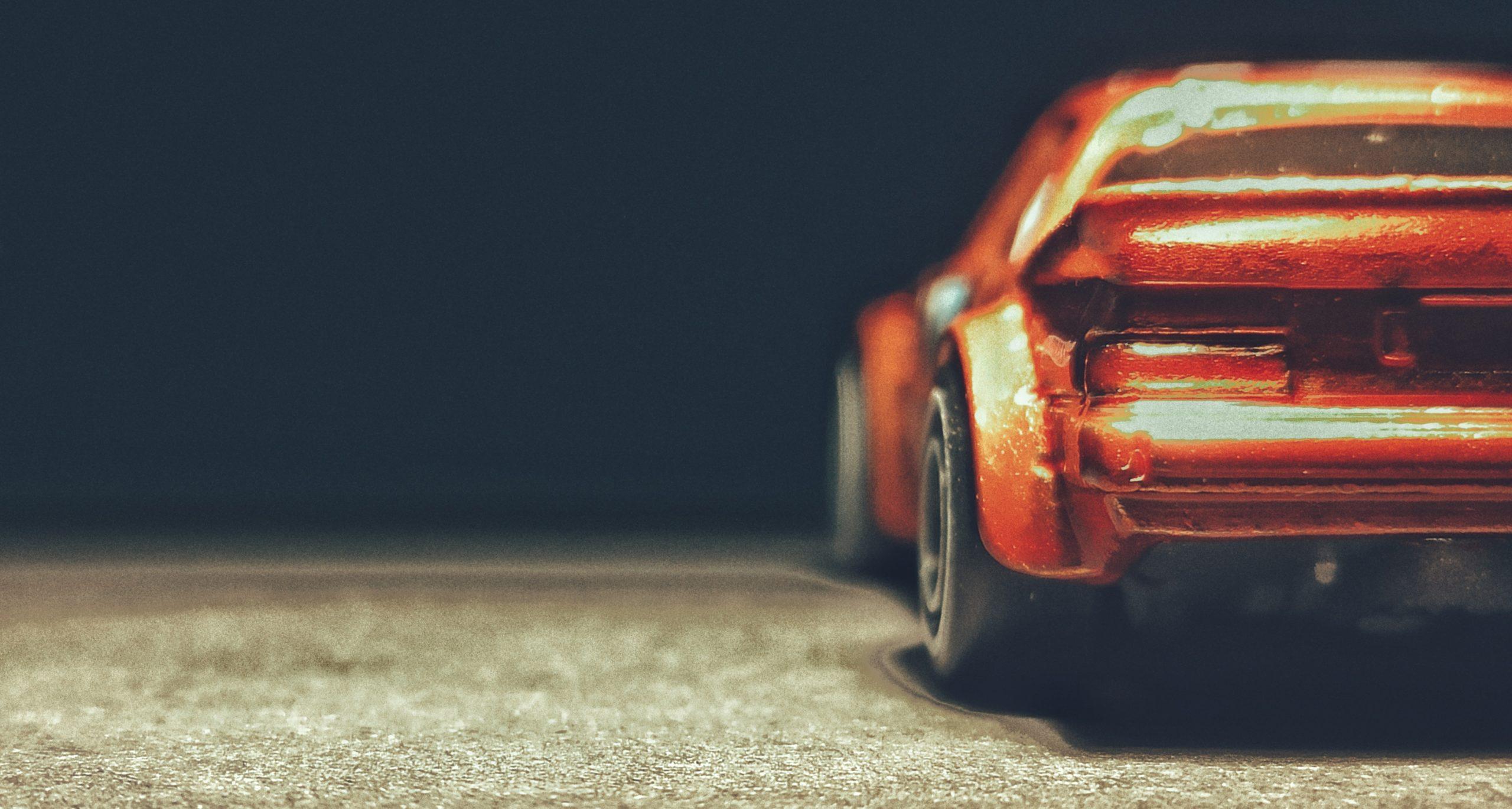 Hot Wheels Mazda RX-7 (GHG28) 2020 (130/250) Speed Blur (5/5) spectraflame orange Super Treasure Hunt (STH) back angle