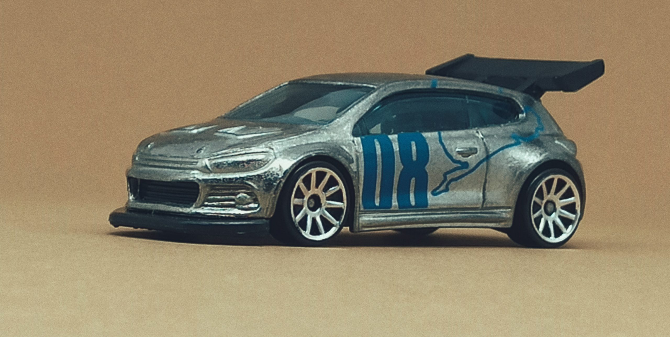 Hot Wheels Volkswagen Scirocco GT 24 (X2050) 2013 (160/250) HW Showroom: Asphalt Assault VW zamac side angle
