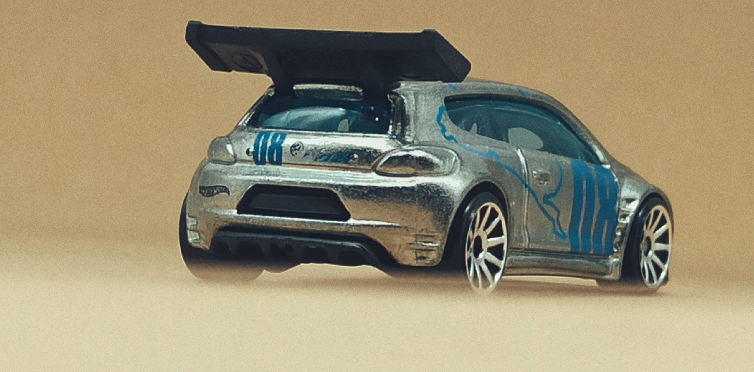 Hot Wheels Volkswagen Scirocco GT 24 (X2050) 2013 (160/250) HW Showroom: Asphalt Assault VW zamac back angle