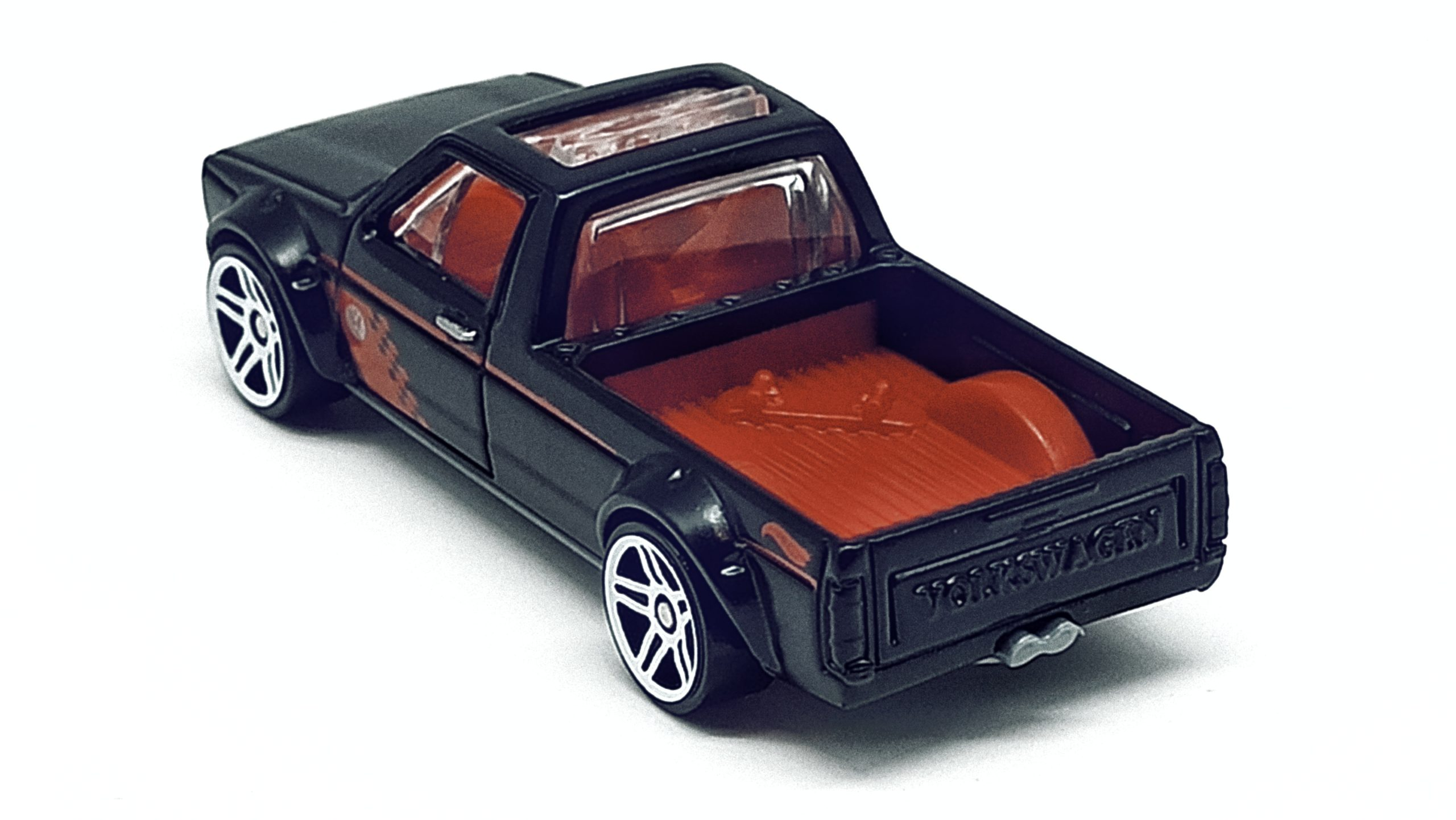 Hot Wheels Volkswagen Caddy (FYG73) 2019 (177/250) Target Red Edition (12/12) VW black top angle