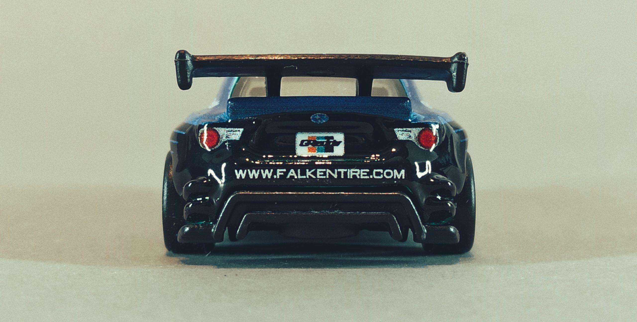 Hot Wheels Pandem Subaru BRZ 2021 Car Culture: Slide Street green and blue (Falken) back