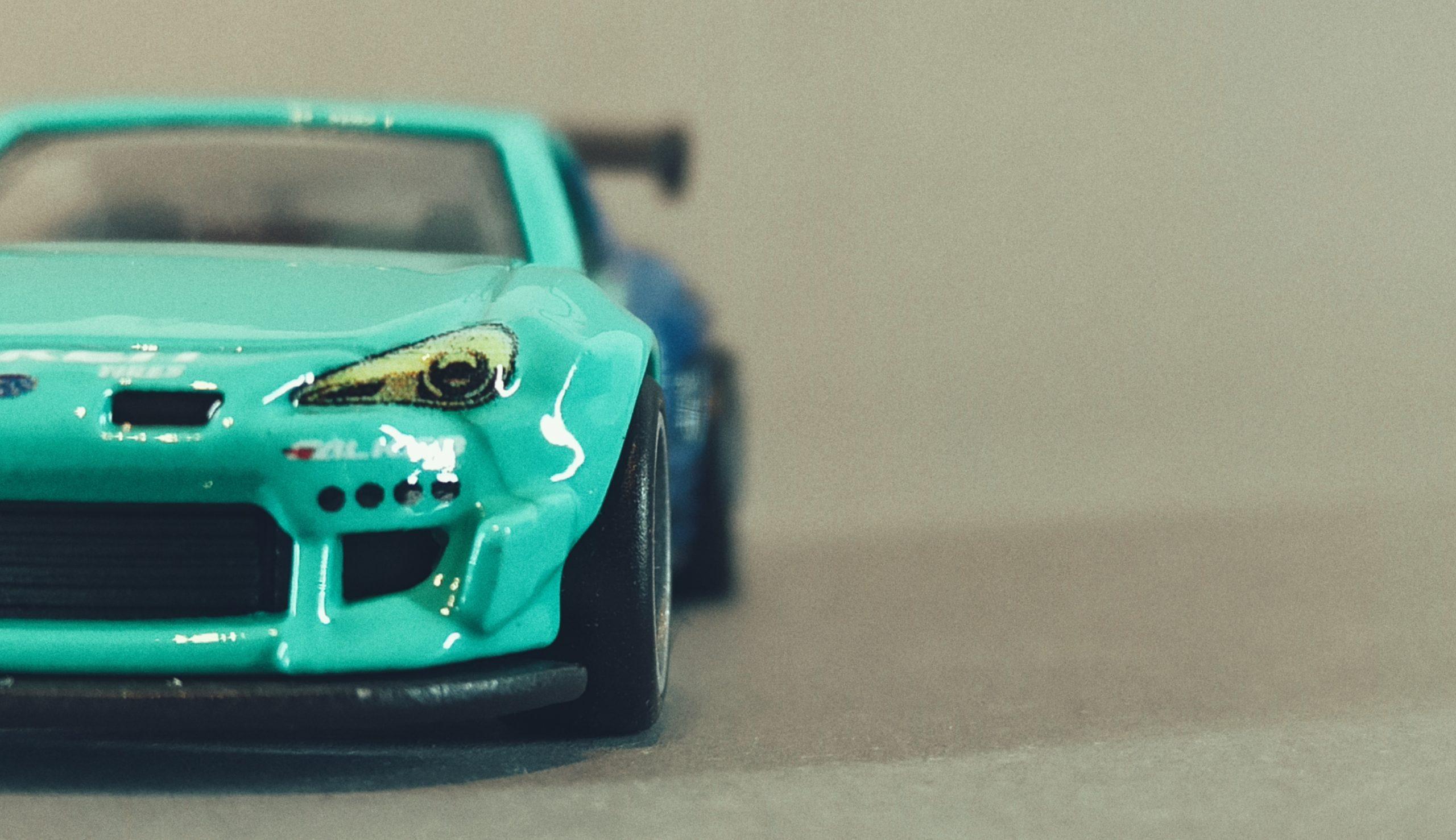 Hot Wheels Pandem Subaru BRZ 2021 Car Culture: Slide Street green and blue (Falken) front