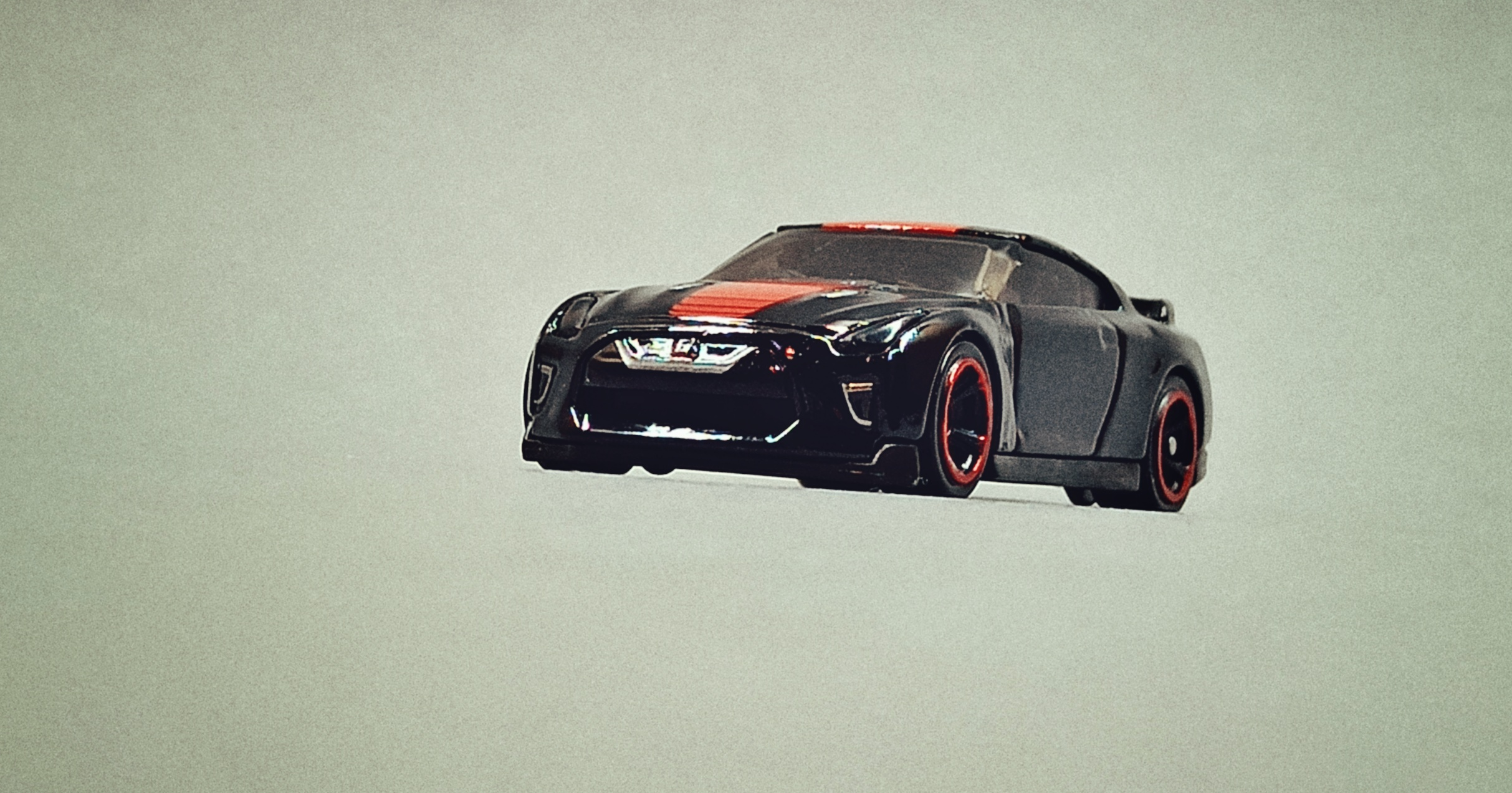 Hot Wheels '17 Nissan GT-R (R35) (GTD41) 2021 (79/250) Then and Now (2/10) black (Kroger Exclusive) front angle