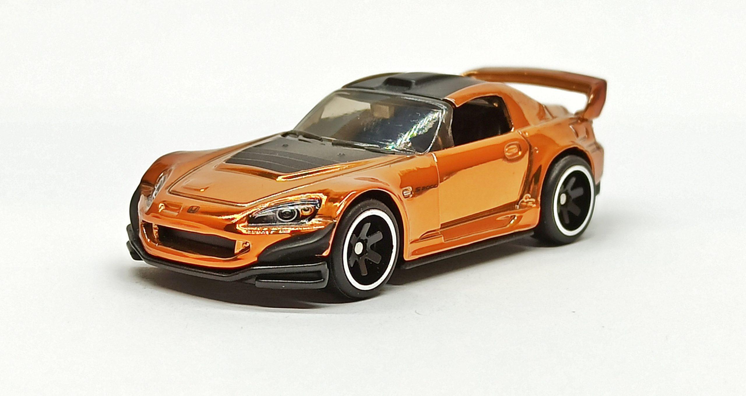 Hot Wheels Honda S2000 2019 RLC Exclusive (1 of 10.000) spectraflame orange side angle