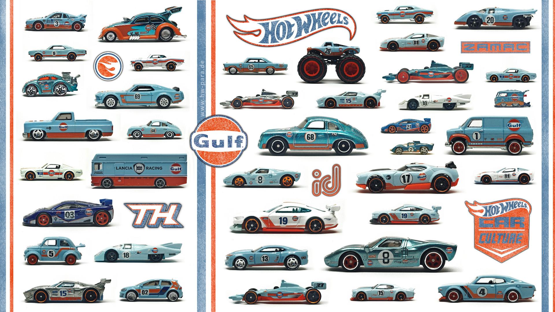 Hot Wheels Gulf Collection Wallpaper 1920*1080 FullHD