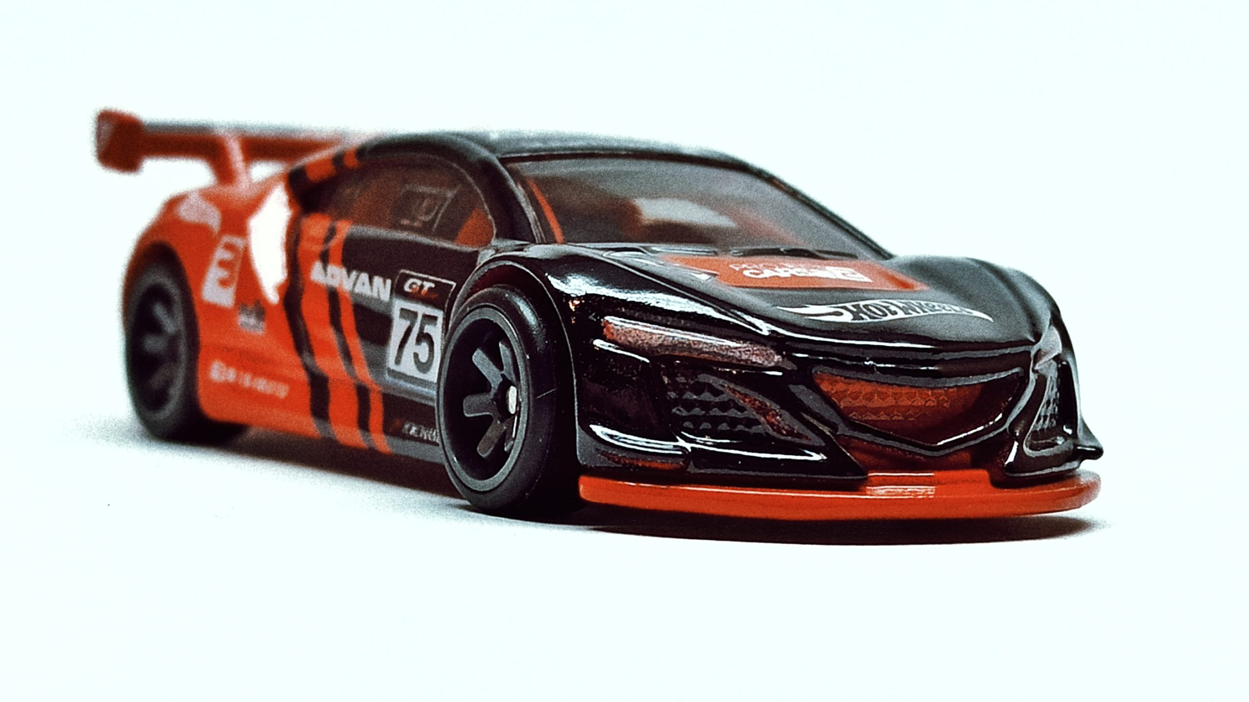 Hot Wheels Acura NSX GT3 (FLD22) 2019 Replica Entertainment: Project Cars 2 black front angle