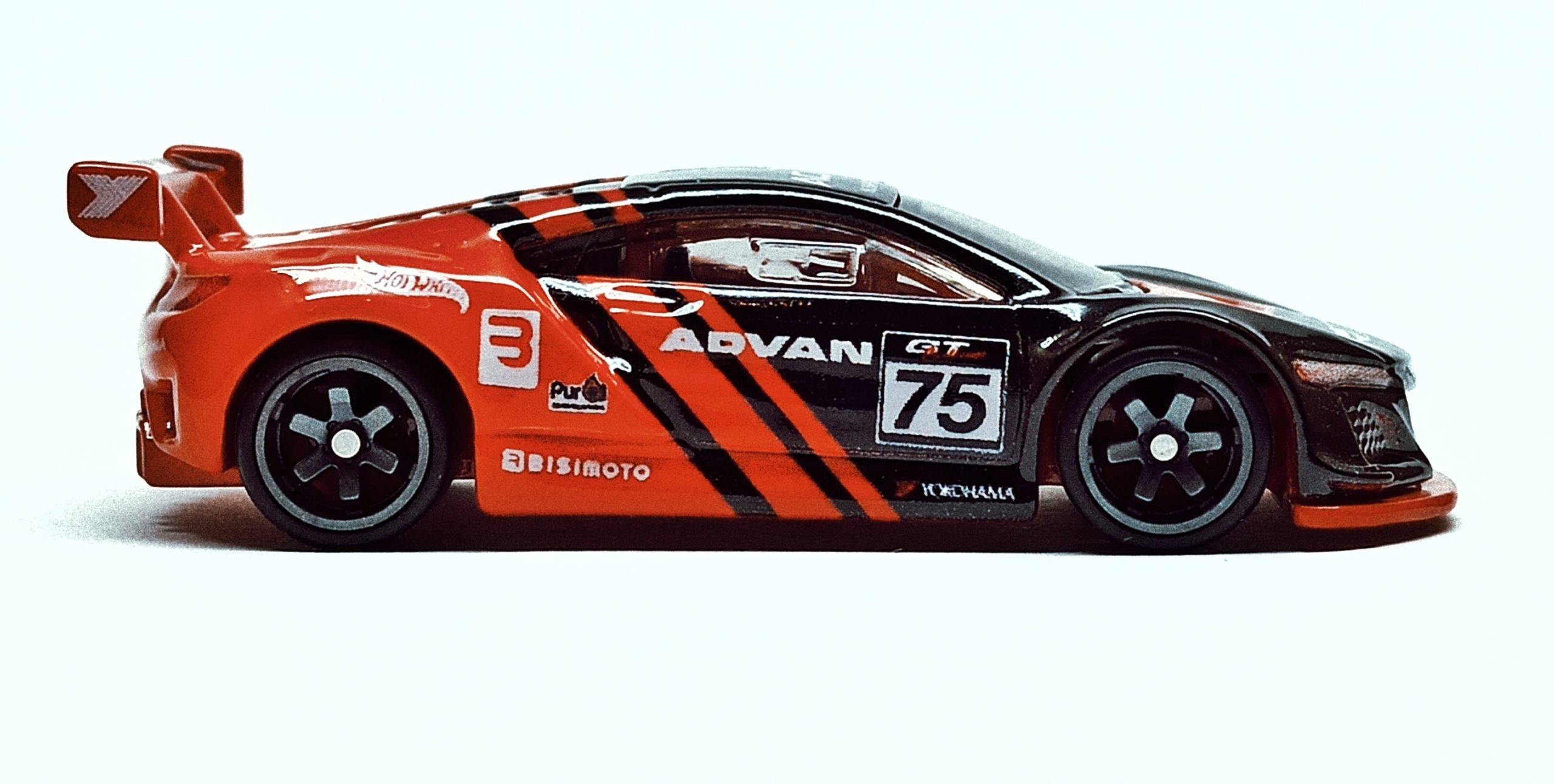 Hot Wheels Acura NSX GT3 (FLD22) 2019 Replica Entertainment: Project Cars 2 black side