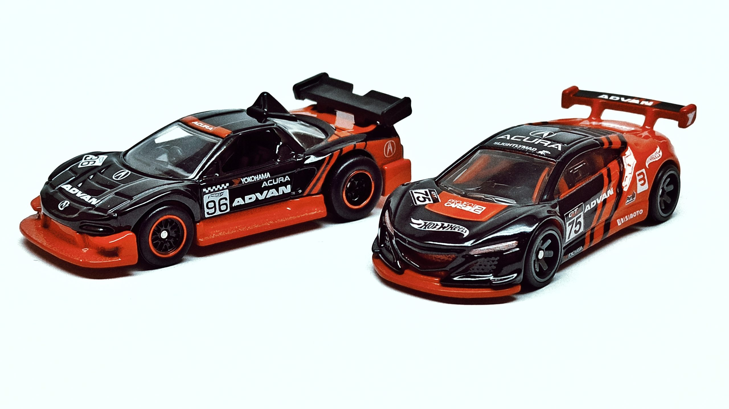 Hot Wheels Acura NSX GT3 (FLD22) 2019 Replica Entertainment: Project Cars 2 black side angle