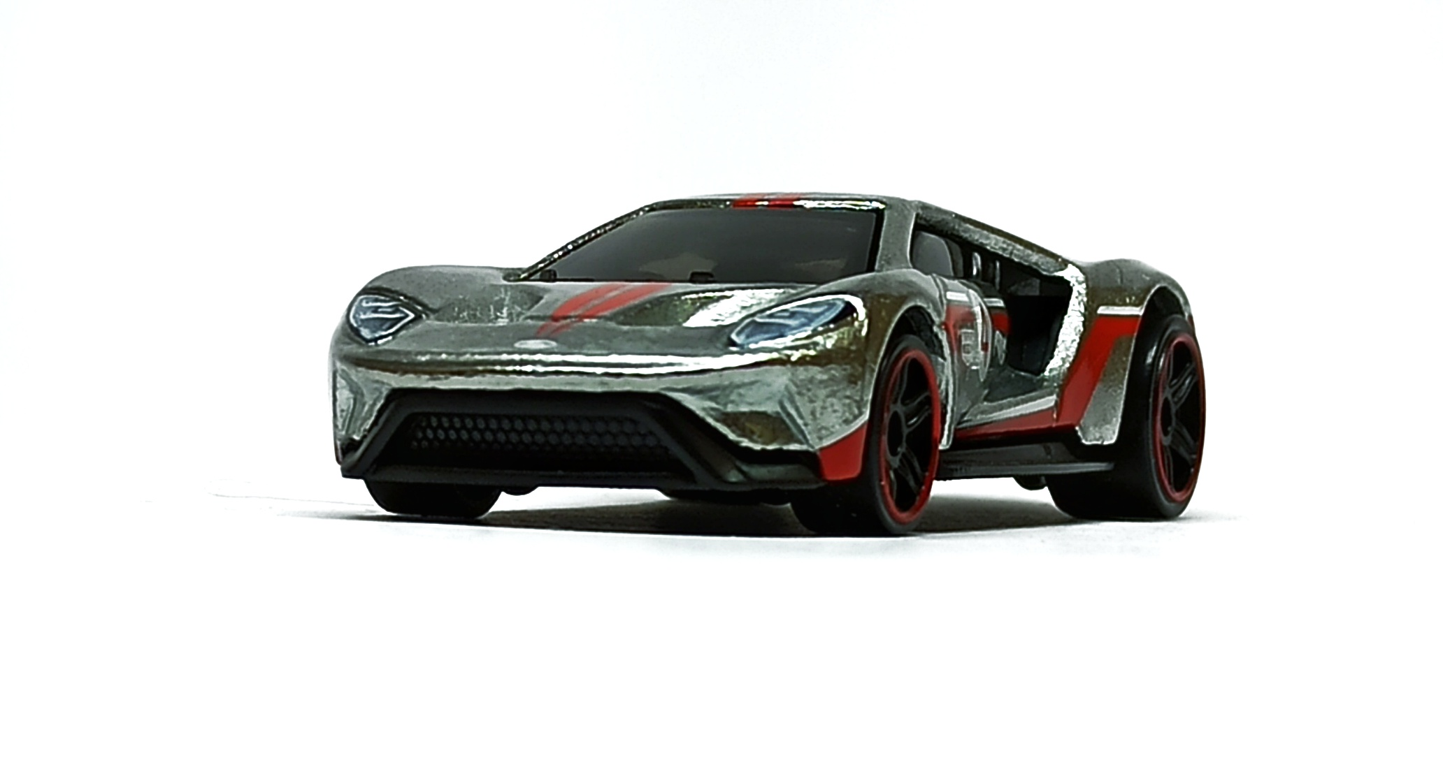 Hot Wheels '17 Ford GT (GTD23) 2021 (164/250) Then and Now (7/10) zamac (Walmart Exclusive) front angle