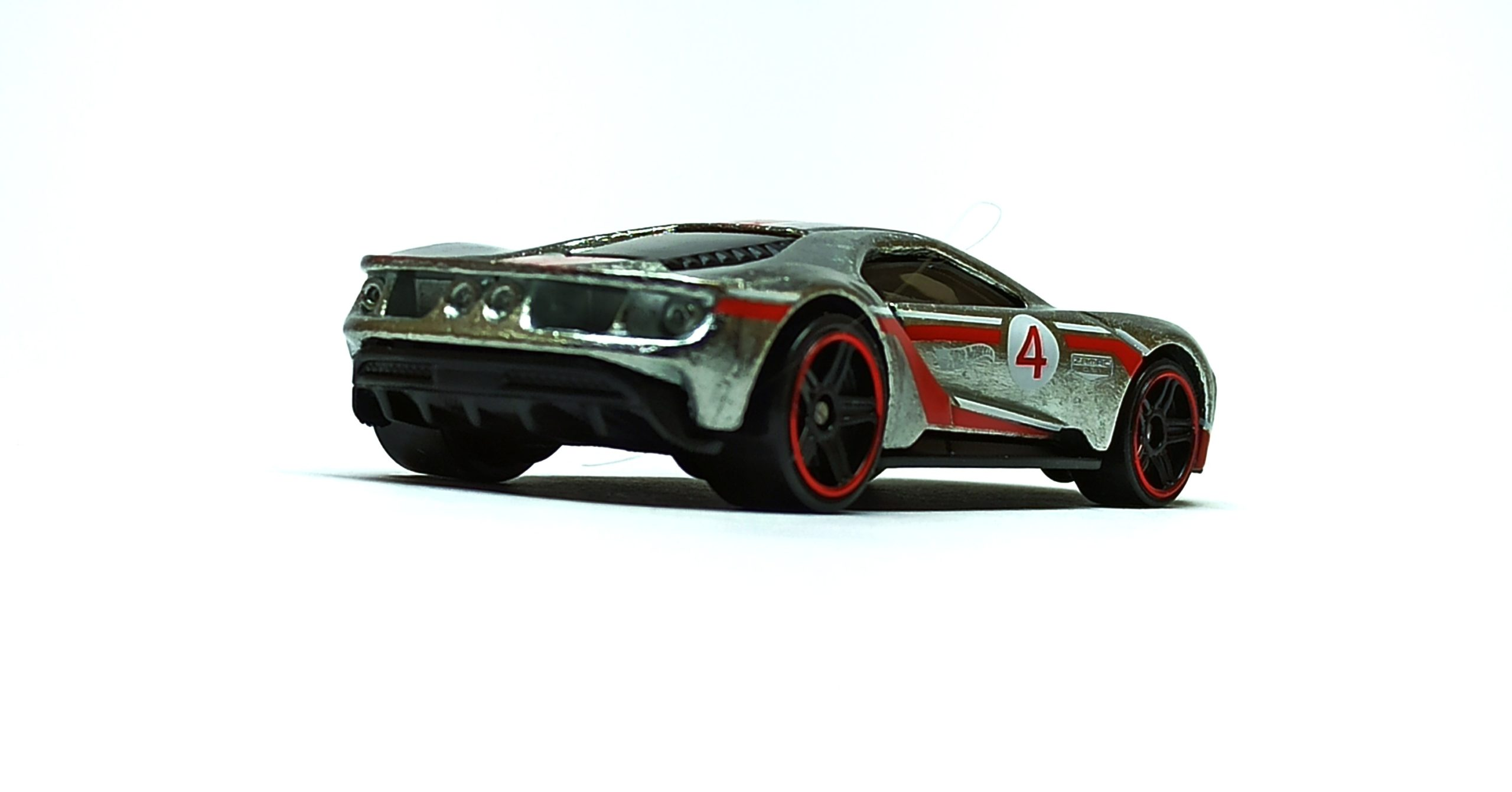 Hot Wheels '17 Ford GT (GTD23) 2021 (164/250) Then and Now (7/10) zamac (Walmart Exclusive) side angle