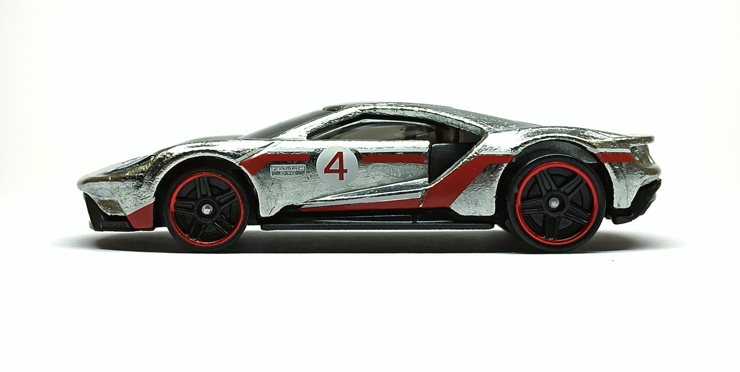 Hot Wheels '17 Ford GT (GTD23) 2021 (164/250) Then and Now (7/10) zamac (Walmart Exclusive) side