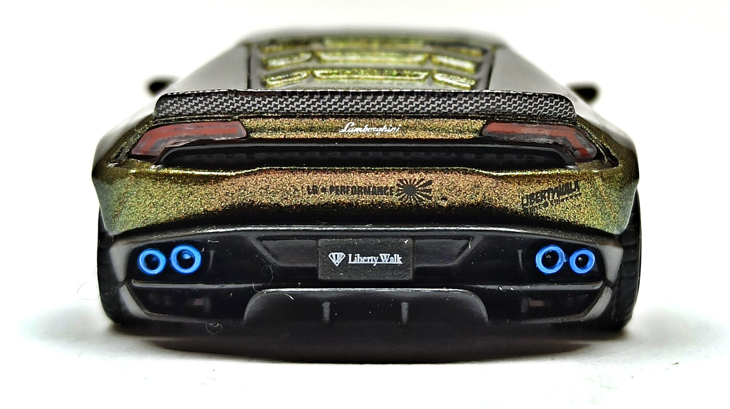 Mini GT Lamborghini Huracán (MGT00190) 2019 Liberty Walk LB★WORKS Version 2 green bronze back