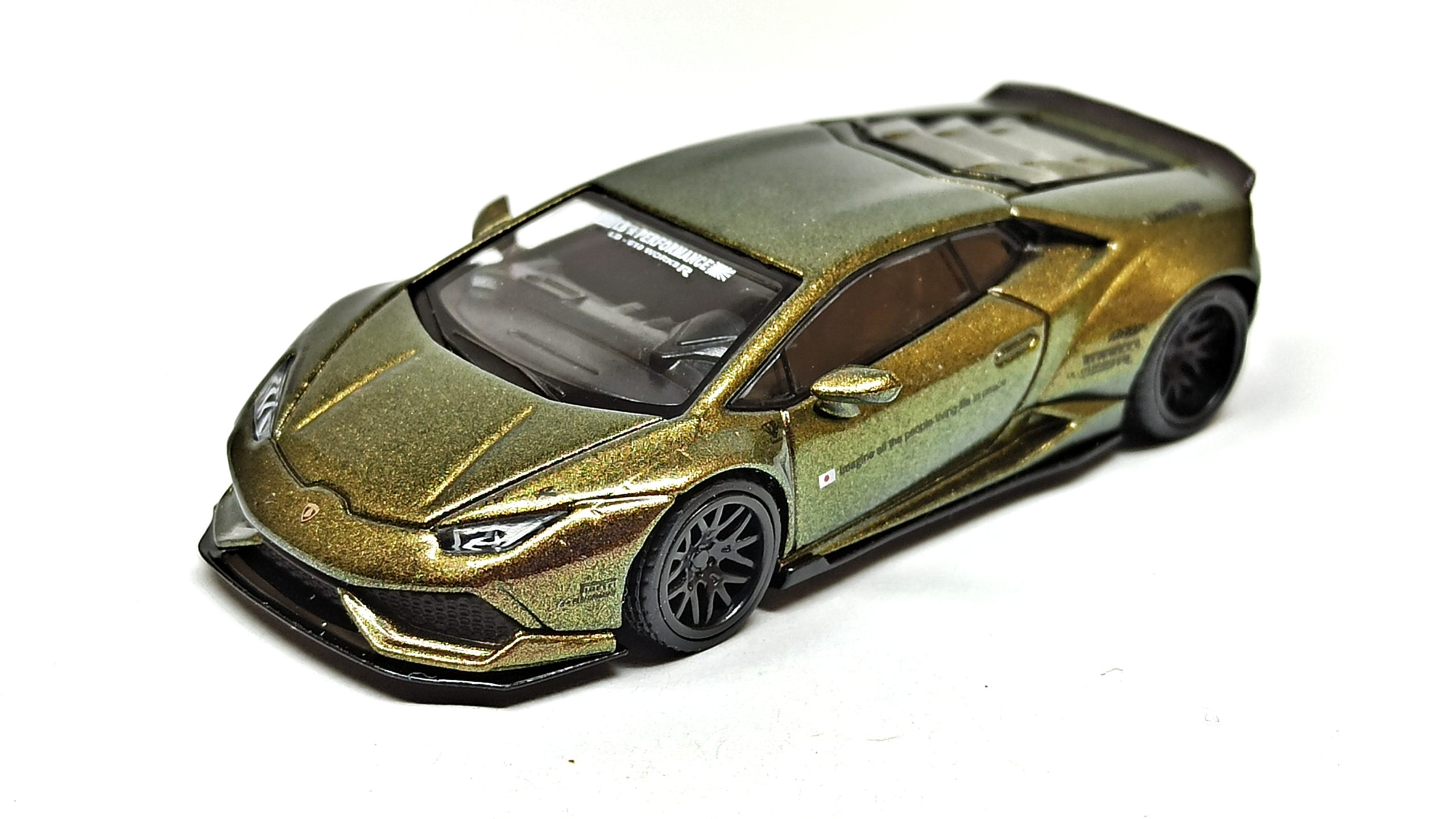 Mini GT Lamborghini Huracán (MGT00190) 2019 Liberty Walk LB★WORKS Version 2 green bronze top